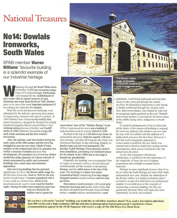 Warren's SPAB magazine article