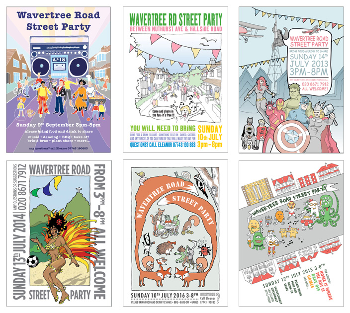Street party flyers