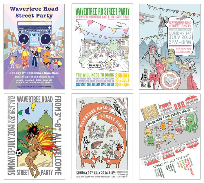 Street party flyers